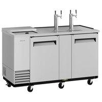Turbo Air TCB-3SD-N6 (2) Double Tap Club Top Kegerator Beer Dispenser - Stainless Steel, (3) 1/2 Keg Capacity