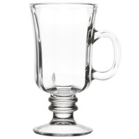 Libbey 5294 8.25 oz. Irish Glass Coffee Mug with Optic Design - 24/Case