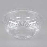 Dart PET32BCD PresentaBowls 32 oz. Clear Plastic Bowl with Dome Lid - 126/Case