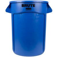Rubbermaid FG263200BLUE BRUTE 32 Gallon Blue Trash Can