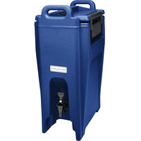 Cambro UC500186 Ultra Camtainers® 5.25 Gallon Navy Blue Insulated Beverage Dispenser
