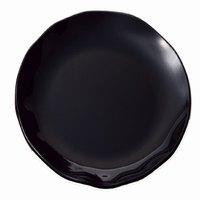 Thunder Group RF1018B 18 inch Black Pearl Round Melamine Plate - 2/Pack