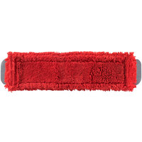 Unger MM40R SmartColor MicroMop 15.0 16 inch Red Wet / Dry Mop Pad