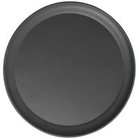 Cambro 1550CT110 Camtread® 16 inch Round Black Satin Non-Skid Serving Tray Low Profile - 12/Case