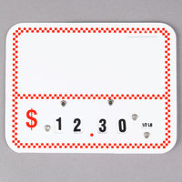 Write On Deli Tag Wheel with Insert - Red Checkered