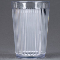 Carlisle 400807 Crystalon Stack-All 8.3 oz. Clear SAN Plastic Tumbler - 12/Case