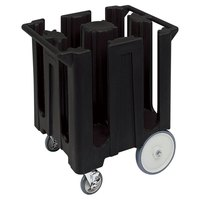 Cambro DC825110 Black Poker Chip Dish Dolly / Caddy with Vinyl Cover - 4 Column