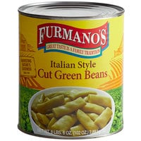Furmano's #10 Can Italian Style Cut Green Beans - 6/Case