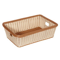 GET WB-1517-TT Designer Polyweave 23 inch x 17 inch x 7 inch Two-Tone Rectangular Plastic Basket - 6/Pack