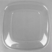 Sabert 54320 Bowl2 Clear Flat Lid for 320 oz. Square Bowls - 25/Case