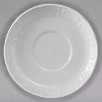 Tuxton CHE-062 Chicago 6 3/8 inch Bright White China Soup Mug Saucer - 36/Case
