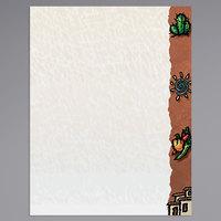 8 1/2 inch x 11 inch Menu Paper Right Insert - Southwest Themed Desert Design - 100/Pack