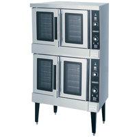 Hobart HGC502 Liquid Propane Double Deck Full Size Convection Oven - 100,000 BTU