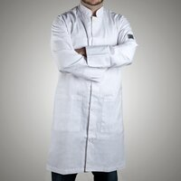 Chef Revival J034-L Knife and Steel Size 46 (L) Customizable Knee Length Tech Coat - Poly-Cotton Blend