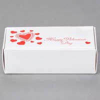 5 1/2 inch x 2 3/4 inch x 1 3/4 inch 1-Piece 1/2 lb. Valentine's Day Candy Box - 250/Case