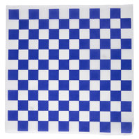 Choice 12 inch x 12 inch Blue Check Deli Sandwich Wrap Paper - 1000/Pack