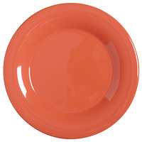GET WP-5-RO Diamond Mardi Gras 5 1/2 inch Rio Orange Wide Rim Round Melamine Plate - 48/Case