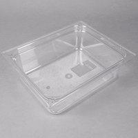 Carlisle 10221B07 StorPlus 1/2 Size Clear Polycarbonate Food Pan - 4 inch Deep