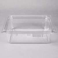Carlisle 10221B07 StorPlus 1/2 Size Clear Food Pan - 4 inch Deep