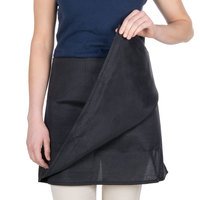 Choice Black 4-Way Waist Apron - 17 inch x 36 inch