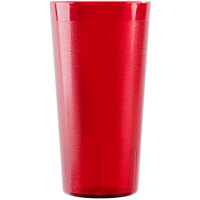 Cambro 2000P2156 Colorware 22 oz. Ruby Red Plastic Tumbler - 24/Case