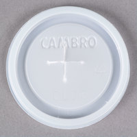 Cambro CLJ6 Disposable Translucent Lid with Straw Slot - 1000/Case