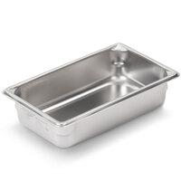 Vollrath Super Pan V 30422 1/4 Size Anti-Jam Stainless Steel Steam Table / Hotel Pan - 2 1/2 inch Deep
