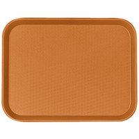 Cambro 1216FF166 12 inch x 16 inch Orange Customizable Fast Food Tray - 24/Case