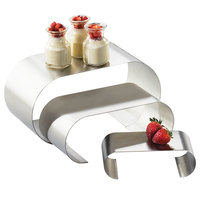 Cal-Mil 1434-55 Small Stainless Steel 3 Curl Riser Set