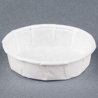 Genpak F075S .75 oz. Squat Harvest Paper Souffle / Portion Cup 250 / Box