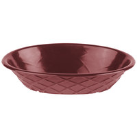 HS Inc. HS1048 9 inch x 5 1/2 inch x 2 inch Raspberry Polyethylene Oval Weave Basket - 24/Case