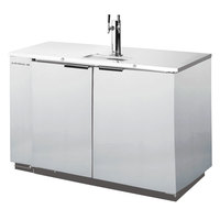 Beverage Air DD50-1-S Stainless Steel Finish Beer Dispenser 50 inch - 2 Keg Kegerator