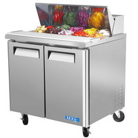 Turbo Air MST-36 36 inch 2 Door Mega Top Refrigerated Sandwich Prep Table