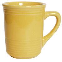 Tuxton CSM-085 Concentrix 8 oz. Saffron China Gala Mug - 24 / Case