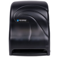 San Jamar T1390TBK Tear-N-Dry Black Hands Free Paper Roll Towel Dispenser