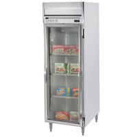 Beverage-Air HFPS1-1G-LED Horizon Series 26 inch Glass Door All Stainless Steel Reach-In Freezer with LED Lighting