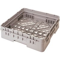 Cambro BR414184 Beige Camrack Customizable Full Size Open Base Rack with 1 Extender