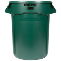Rubbermaid FG263200DGRN BRUTE 32 Gallon Green Trash Can