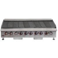 APW Wyott HCB-2460i Natural 60 inch Gas HD Cookline Radiant Charbroiler - 200,000 BTU