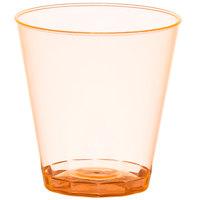 Fineline Quenchers 402-ORG 2 oz. Neon Orange Hard Plastic Shot Cup - 50/Pack
