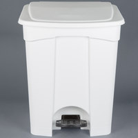 Continental 18WH 18 Gallon White Step On Trash Can