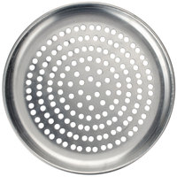 American Metalcraft PCTP14 14 inch Perforated Standard Weight Aluminum Coupe Pizza Pan