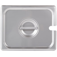 Choice 1/2 Size Stainless Steel Slotted Steam Table / Hotel Pan Cover