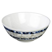 Thunder Group 5207DL Blue Dragon 1.2 Qt. Round Melamine Rice Bowl - 12/Case