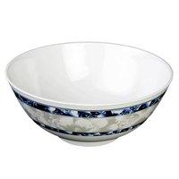 Blue Dragon 39 oz. Round Melamine Rice Bowl - 12/Case