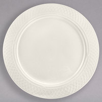 Homer Laughlin HL3347000 Gothic 6 1/4 inch Ivory (American White) China Plate - 36/Case