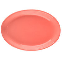 Tuxton CNH-0962 Concentrix 9 3/4 inch x 7 inch Cinnebar Oval China Coupe Platter - 24/Case