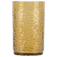 Carlisle 550918 Pebble Optic 9.5 oz. Smoke SAN Plastic Tumbler - 24/Case