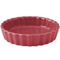 Hall China 30864326 Scarlet 8 oz. Colorations Round Fluted Souffle / Creme Brulee Dish - 24/Case