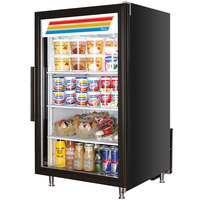 True GDM-7-LD Black Countertop Display Refrigerator with Swing Door - 7 cu. ft.